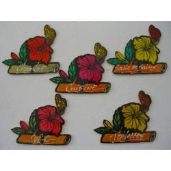 Appliques Portes (Hibiscus)